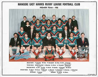 Mangere East Hawks Rugby League Premier Team 1985