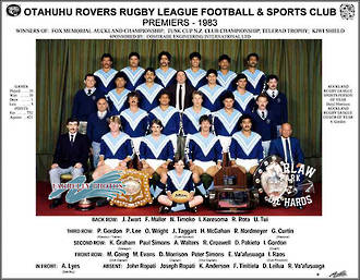 Otahuhu Rovers Rugby League Premiers 1983