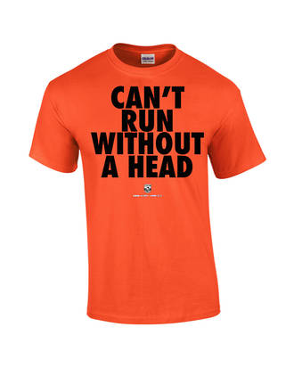 "Carlaw Park ""Can't Run Without A Head"" Orange Tee"