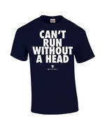 "Carlaw Park ""Can't Run Without A Head"" Navy Tee"