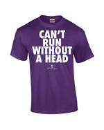 "Carlaw Park ""Can't Run Without A Head"" Purple Tee"
