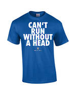 "Carlaw Park ""Can't Run Without A Head"" Royal Blue Tee"