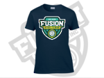 Fusion Netball Shield Supporters Tee Shirt Navy