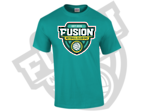 Fusion Netball Shield Supporters Tee Shirt Teal Green