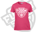 Fusion Netball Mono Shield Supporters Tee Shirt Heliconia