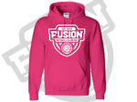 Fusion Netball Mono Shield Supporters Hoodie Heliconia
