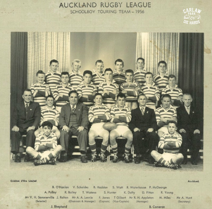 Auckland Rugby League Schoolboy Touring Team 1956