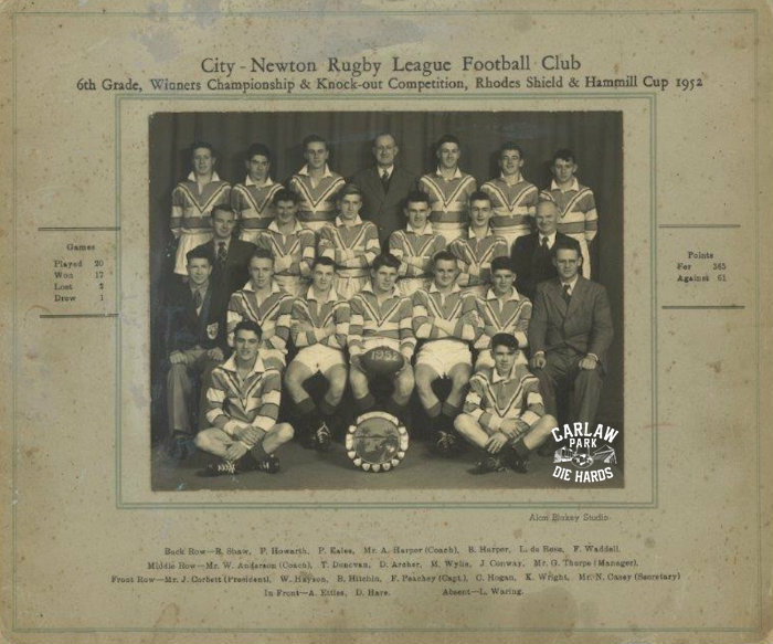 City Newton Rugby League 6th Grade Team 1952