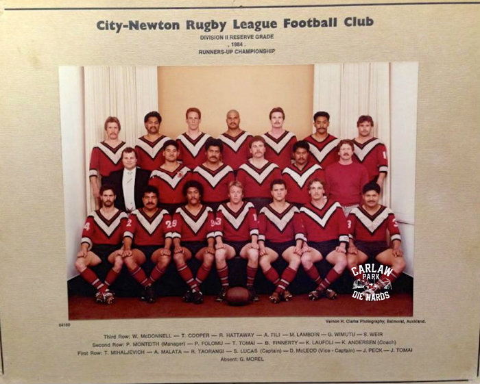 City Newton Rugby League Reserve Grade Team 1984