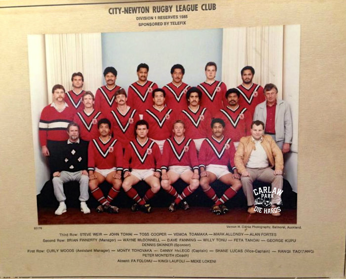 City Newton Rugby League Reserves Team 1985