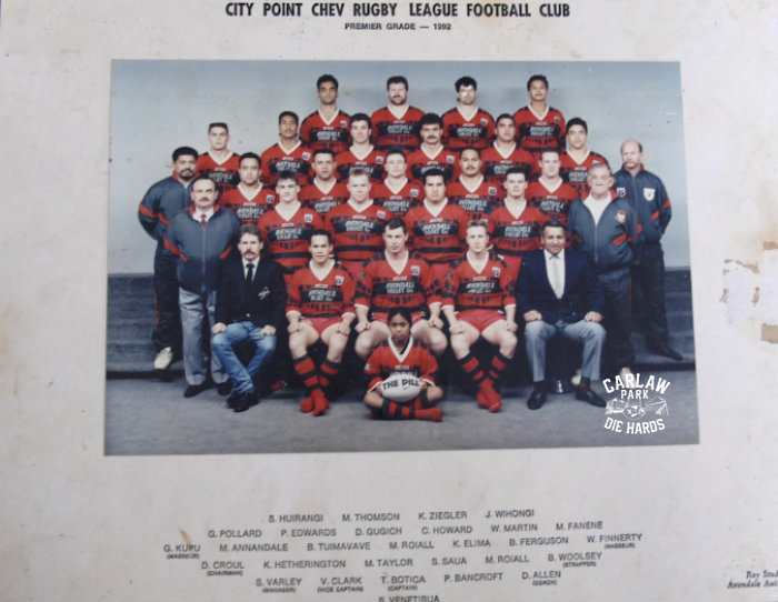 City Point Chev Rugby League Premier Team 1992