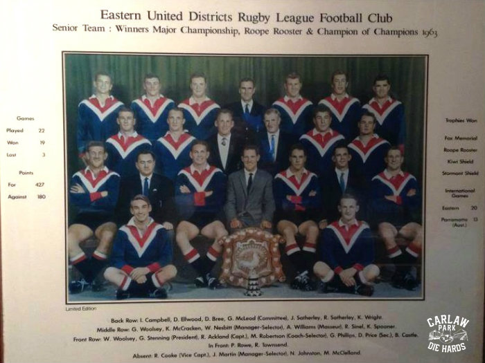 Eastern United Districts RLC Senior Team 1963