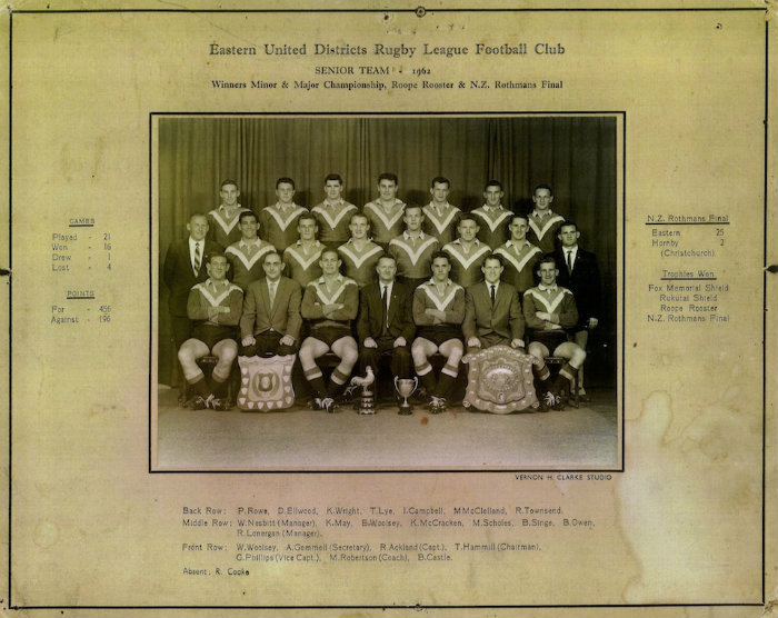 Eastern Untied Districts Rugby League Senior Team 1962