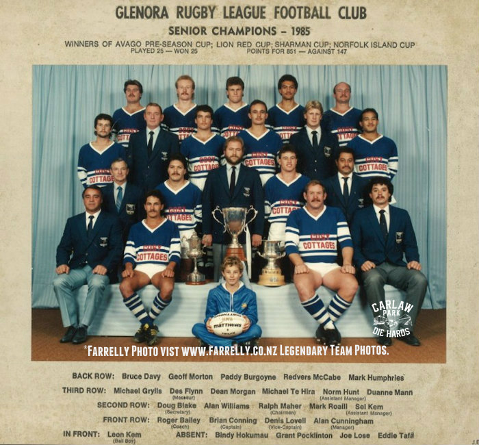 Glenora Rugby League Premiers Team 1985(copy)