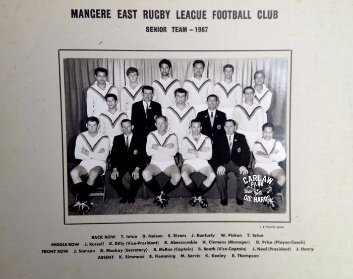 Mangere East Rugby League Senior Team 1967