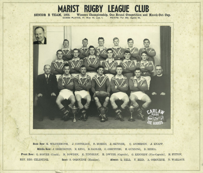 Marist Rugby League Senior B Team 1956