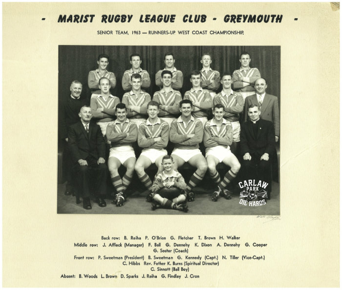 Marist Rugby League Senior Team - Greymouth 1963