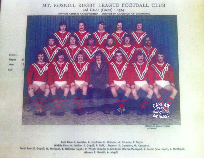 Mt Roskill Rugby League 3RD Grade Team 1974