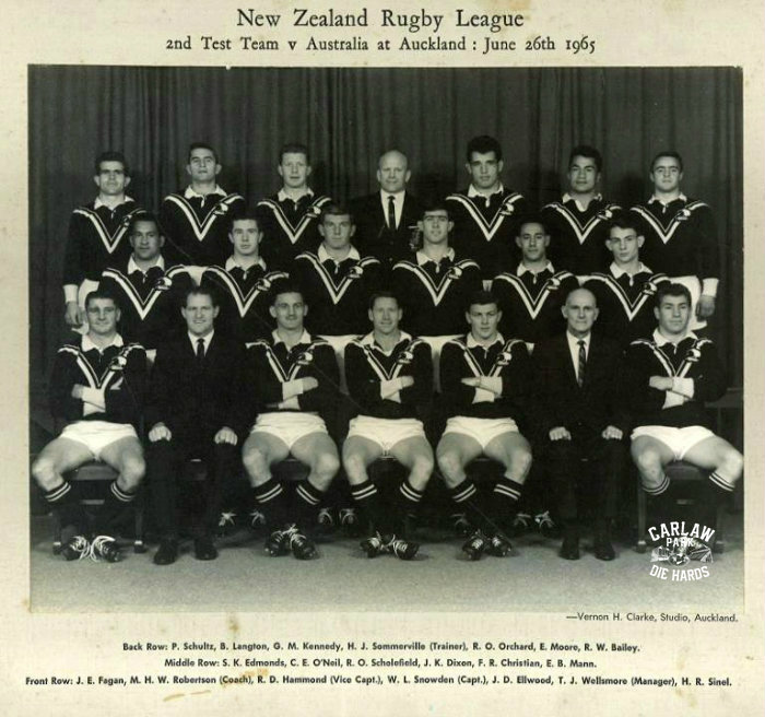 New Zealand Rugby League 2nd Test Team 1965