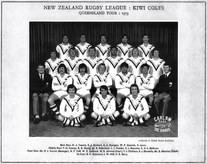 New Zealand Rugby League Kiwi Colts Queensland Tour 1973