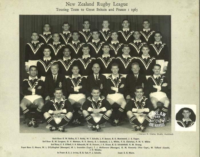 New Zealand Rugby League Kiwis Team 1965 Tour GB
