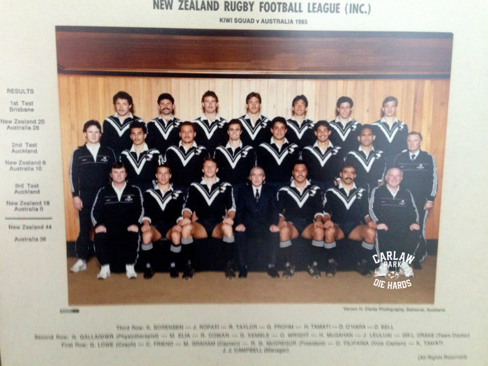 New Zealand Rugby League Kiwis Team 1985
