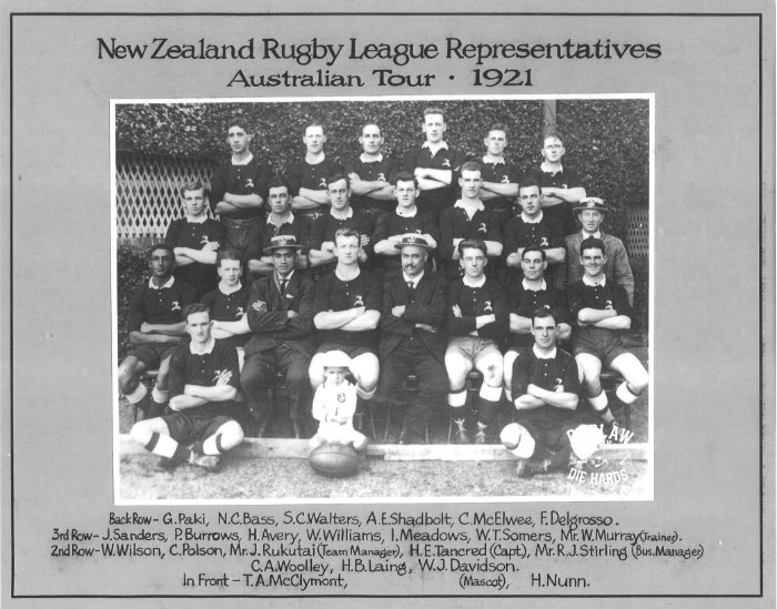 New Zealand Rugby League Team 1921 Austrlia Tour