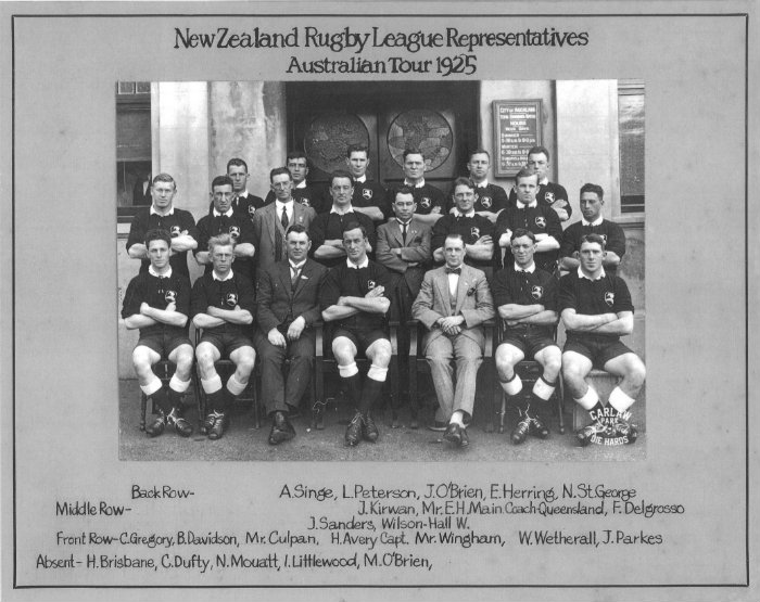 New Zealand Rugby League Team 1925 Australia Tour