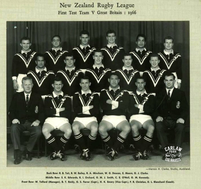 New Zealand Rugby League Test Team 1966