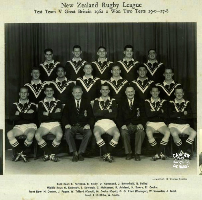 New Zealand Rugby League Test Team v GB 1962