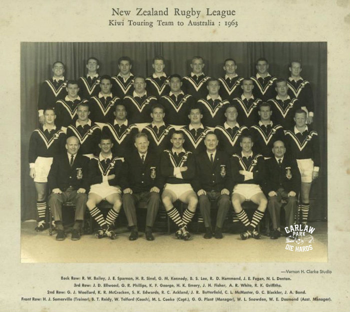 New Zeland Rugby League Kiwis Team 1963 Tour Aus