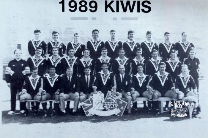 New Zeland Rugby League Kiwis Team 1989