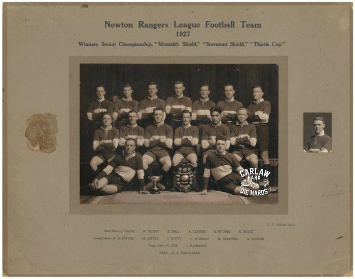 Newton Rangers Rugby League Senior Team 1927