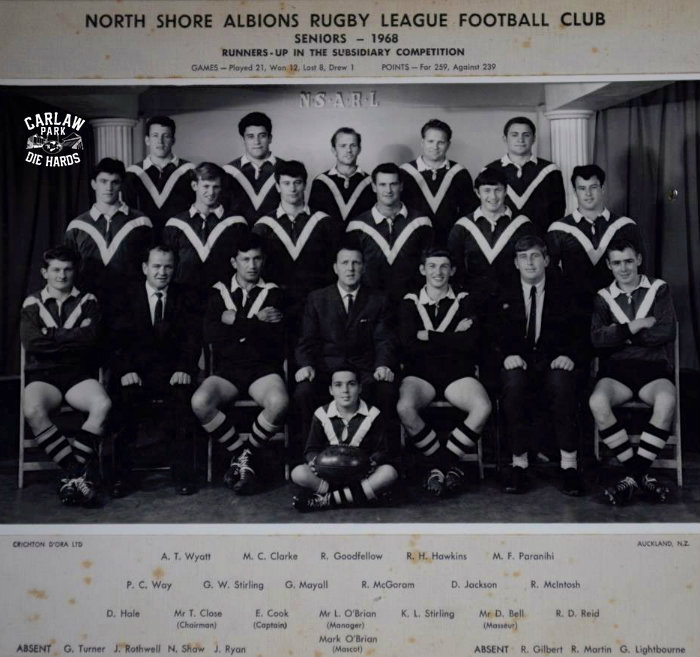 North Shore Albions RLC Seniors 1968