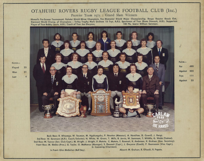 Otahuhu Rovers Rugby League Premier Team 1975