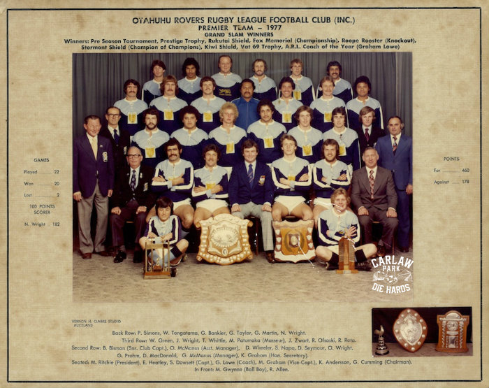 Otahuhu Rovers Rugby League Premier Team 1977