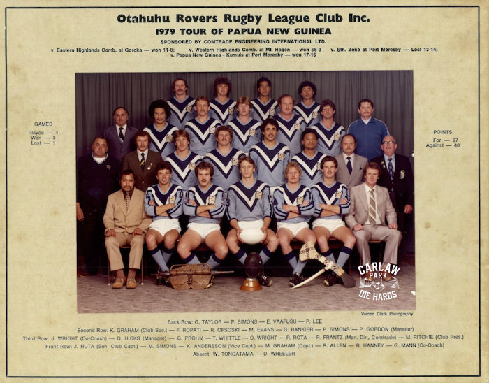 Otahuhu Rovers Rugby League Team Tour PNG 1979