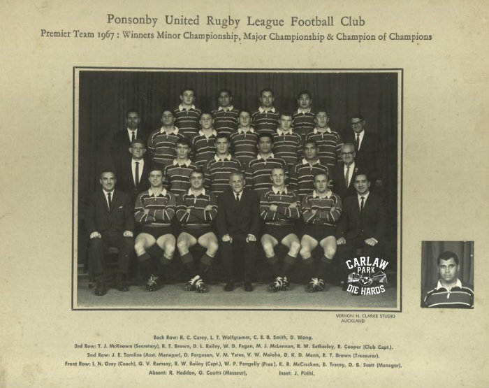 Ponsonby United Rugby League Premier Team 1967