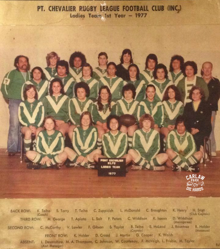 Pt Chevalier Rugby League Ladies Team 1977