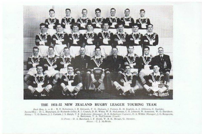 The 1951 - 52 New Zealand Kiwis Touring Team