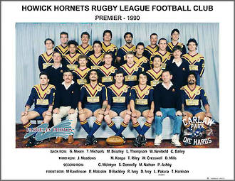 Howick Hornets Rugby League Premiers 1990