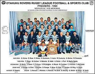 Otahuhu Rovers Rugby League Premiers 1990
