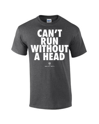 "Carlaw Park ""Can't Run Without A Head"" Dark Heather Tee"