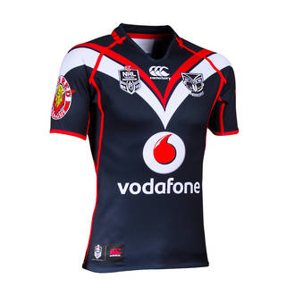 2014 Vodafone Warriors Rugby League NEW Home Jersey