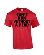 "Carlaw Park ""Can't Run Without A Head"" Red Tee"