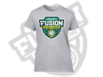 Fusion Netball Shield Supporters Tee Shirt Sports Grey